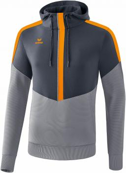SQUAD Kapuzensweat - slate grey/monument grey/new orange