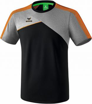 PREMIUM ONE 2.0 T-Shirt - schwarz/grau melange/neon orange