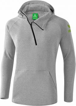 ESSENTIAL Kapuzensweat - hellgrau melange/twist of lime
